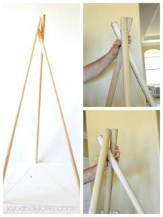 How to make a kid's teepee from a shower curtain tutorial