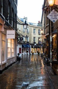 Shopping, Cambridge, England.