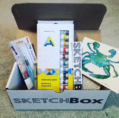SketchBox - a monthly subscription of art supplies! I soo need this in my life!!