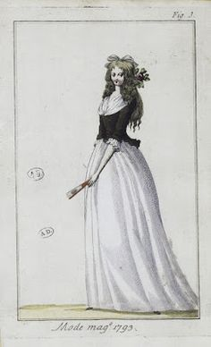 Clothing 1800: London 1793 - When the pad went bland (or: How the pregnancy pad for obstetricians high waist was)