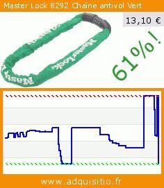 Master Lock 8292 Chaîne antivol Vert (Sport). Réduction de 61%! Prix actuel 13,10 €, l'ancien prix était de 33,45 €. https://www.adquisitio.fr/master-lock/8292-cha%C3%AEne-antivol-vert