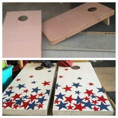 Cornhole Boards -- Stars Patriotic