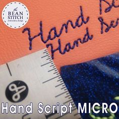 Hand Script MICRO font! - Includes THREE(3) Sizes! Accessories, Keychain, keychain, bag tag, key fob, ITH, gift, stocking stuffer, Machine Embroidery, font, micro font, mini font, script font, cursive font