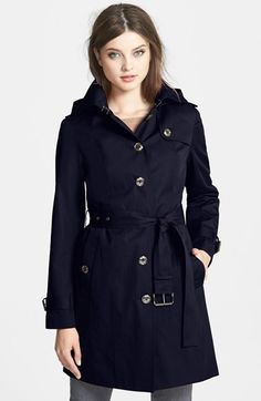 MICHAEL Michael Kors Trench Coat with Detachable Hood & Liner (Regular & Petite (Online Only) available at #Nordstrom