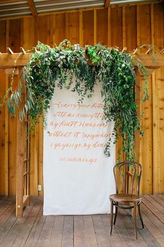 What a beautiful way to incorporate a beloved quote into your wedding decor.