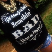"""Somethin' Bad"" burn out tee from www.rebelheartsco.com! Country Apparel! Miranda Lambert, Carrie Underwood"