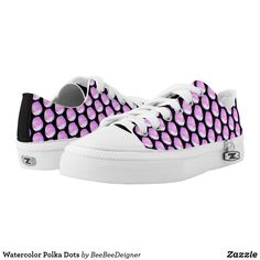Shop Watercolor Polka Dots Low-Top Sneakers created by BeeBeeDeigner. Kids Sneakers, Watercolors, Sneakers Fashion, Athletic Shoes, Baby Shoes, Polka Dots, Classy, Pairs, Top