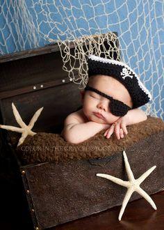 Baby Kostüm, Baby Boy Newborn, Baby Boy Photos, Newborn Pictures, Newborn Photography Props, Newborn Photo Props, Pirate Photo, Newborn Crochet, Hat Crochet
