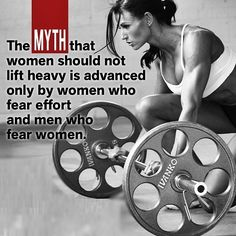 The myth that women should not lift weights...