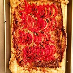 Kitchen Cactus: Tomato and Gruyere Tart Passover Recipes, Pizza Recipes, Yummy Snacks, Meatloaf, Vegetable Pizza, Lasagna, Tart, Side Dishes, Deserts