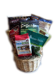 Gluten free gift basket gluten free christmas baskets all that and a bag of chips gluten free gift basket for mothers day negle Choice Image
