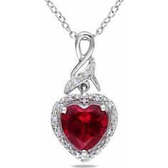 Take a look at this White Diamond & Ruby Heart Pendant Necklace on zulily today! Diamond Pendant Necklace, Gemstone Necklace, Ruby Necklace, Ruby Pendant, White Necklace, Diamond Jewelry, Heart Jewelry, Fine Jewelry, Jewelry Necklaces
