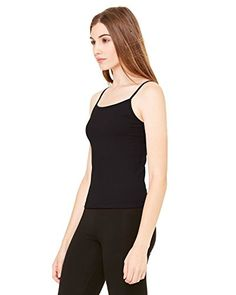 Bella Ladies 65 oz CottonSpandex CamisoleM BLACK B600 *** Visit the image link more details. (This is an affiliate link and I receive a commission for the sales)
