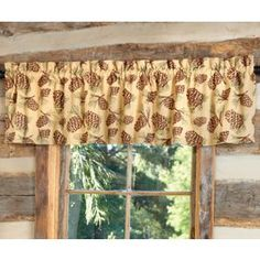 Pinecone+Lined+Valance