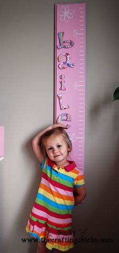 "I don't know why this sparked the little spot of inspiration but this could be really cute to do for a little one... a height marker along with a ""when I grow up"" chart and mark that each time you measure them :) That could make a cute little memory"