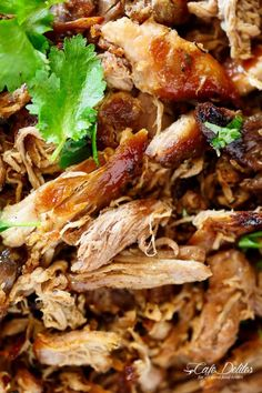 Crispy Pork Carnitas (Mexican Slow Cooked Pulled Pork) is a winner! The closest recipe to authentic Mexican Carnitas (NO LARD), with a perfect crisp finish! Slow Cooked Pulled Pork, Slow Cooked Meals, Slow Cooker Pork, Slow Cooker Recipes, Cooking Recipes, Crockpot Ideas, Cooking Tips, Crockpot Lunch, Freezer Cooking