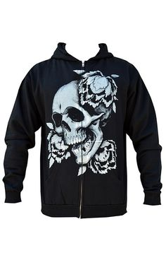 """Men's """"Rebirth"""" Zip Hoodie by Black Market Art (Black) #inkedshop #rebirthhoodie #hoodie"""