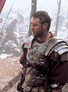 Russell Crowe in Gladiator,a 2000 epic historical drama film directed by Ridley Scott, starring Russell Crowe, Joaquin Phoenix, Connie Nielsen, Oliver Reed,Richard Harris.