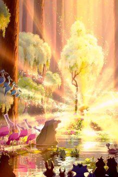 I love how Disney makes a bayou look like the prettiest place on earth