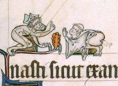 bishop and monk Gorleston Psalter, England 14th century (British Library, Add 49622, fol. 82r)