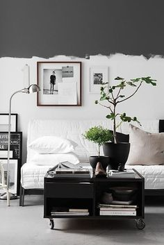 Inversion works great too. | 23 Stunning Ways To Add Color To Your Walls