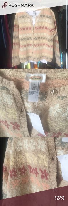 "💕BNWT Talbots Cardigan Gorgeous BNWT Talbots cardi. Taupe with shades of mauve, yellow, cream, and olive. 22"" pit to pit. 24"" shoulder to hem. Talbots Sweaters Cardigans"