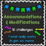 Accomodation Modification guide for struggling students This tool will help you QUICKLY start with the support a student needs to find success