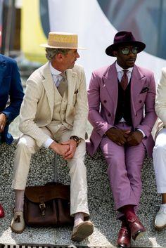 Firenze Pitti Uomo Men's Street Style Spring 2017 Street Style 2017, Spring Street Style, Sharp Dressed Man, Well Dressed Men, Dapper Men, Gentleman Style, Stylish Men, Hats For Men, Men Dress