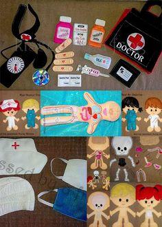 Nurses, Doctors and Felt on Pinterest