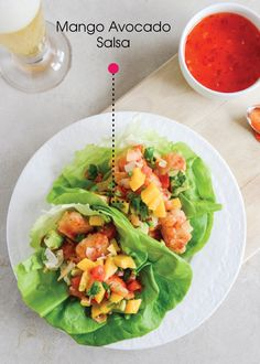 If you're craving a delicious lunch, these Beer Battered Shrimp Lettuce Wraps with Mango Avocado Salsa are definitely the way to go. Or, make a few small wraps ahead of time for an on-the-go snack.