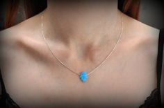 Sterling silver Opal hamsa LUCK hand necklace, Hand of God Hamsa Necklace