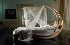 """Beautiful elegant Enignum Canopy Bed designed by Joseph Walsh for his """"Formations"""" collection."""