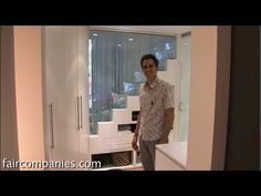Tiny home cube: bathroom + kitchen + closet for family of 3 - YouTube