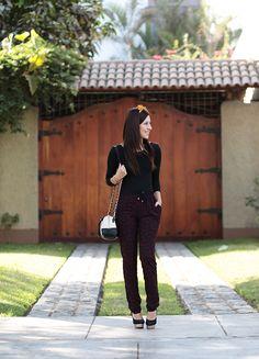 http://lecoquelicotblog.com/looks/burgundy-animal-print/