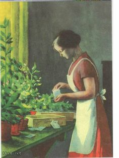 More art of one of our most loved illustrators. This image of girl planting the seeds is so calming and subtle. Art And Illustration, Illustrations And Posters, Fields In Arts, Girl Face Drawing, Inspiration Art, Indigenous Art, Art Nouveau, Christmas Art, Oeuvre D'art
