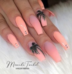 Exciting Summer nail art for you to get into the vacation mode. - Exciting Summer nail art for you to get into the vacation mode. I am sure these summer nail designs will make you ready for your summer parties and trips. Summer Acrylic Nails, Best Acrylic Nails, Nail Summer, Summer Vacation Nails, Coffin Nails Designs Summer, Coffin Nails Matte, Stiletto Nails, Pink Coffin, Cute Nails