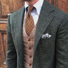 Textured Blazer Contrasting Vest! @classydapper has truly inspired us with this one. by sophisticatedsir