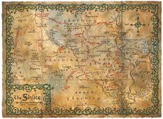 Poster affiche The Hobbit Carte La Comté grand format 95 x 130