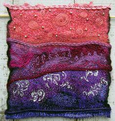 peaceofpi studio: Hand Embroidered Fiber Art Quilt