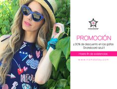 ¡¡Nueva PROMOCIÓN en Namdalay!! Llévate ahora nuestras gafas Skateboard azul de la colección cápsula con Flamingo Parade con un 30% de descuento... ¡Sólo 38,5€! 😍 Date prisa y consíguelas ya en www.namdalay.com, ¡ÚLTIMAS UNIDADES!  * Promoción disponible hasta fin de existencias.
