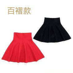 >> Click to Buy << Children Girl Waist Knit Skirts Black Red Baby Tutu Skirt Pettiskirt Plaid Skirt Vestidos Infantil 3-16Y #Affiliate