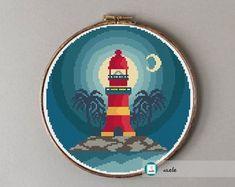 Cute and modern cross stitch patterns. por Axebe en Etsy Modern Cross Stitch Patterns, Buy And Sell, Ravelry, Etsy Seller, Decorative Plates, Shops, Create, Creativity, Paisajes