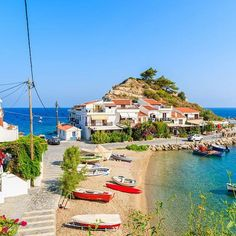 Let's relax in Kokkari village on Samos island Greece Vacation Places, Vacation Destinations, Places To Travel, Vacations, Cool Places To Visit, Places To Go, Beautiful World, Beautiful Places, Travel Around The World