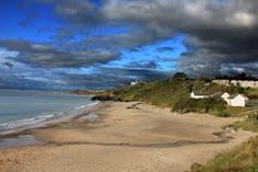 Ballymoney strand, with Tara Glen on the headland