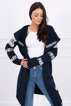 cardigan bumbac dama casual-sport cu lungime medie si maneci lungi! Bomber Jacket, Elegant, Casual, Sweaters, Jackets, Sport, Clothes, Products, Fashion