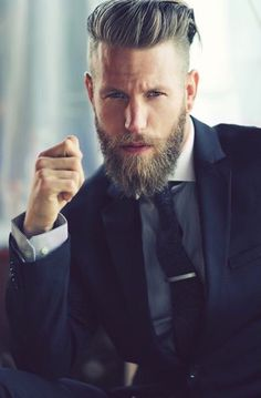 Want a straighter beard? Check out the best straight beard styles and learn how to achieve them (even if you have a curly beard!) with beard straightening products like beard balm and beard straightening combs and brushes. Undercut With Beard, Beard Haircut, Undercut Men, Undercut Hairstyles, Crazy Hairstyles, Beard And Hairstyles, Short Undercut, Short Beard, Formal Hairstyles