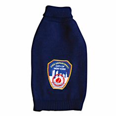 Royal Animals FDNY Navy Blue Turtleneck Sweater w/Official Patch Navy Blue Turtleneck, Royal Animals, Fire Badge, Animal Sweater, Dog Sweaters, Pet Clothes, Pet Care, Your Pet, Turtle Neck