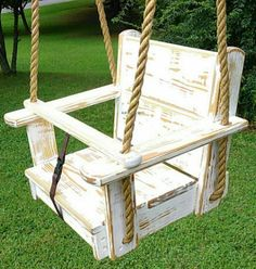 Wooden tree swing kids seat style yellow pine wood a painted product treated with water sealer rounded edges and sanded smooth rope is polypropylene. Wooden Baby Swing, Outdoor Wooden Swing, Wooden Tree Swing, Wood Swing, Wood Tree, Backyard Swings, Backyard For Kids, Diy Swing, Porch Swing