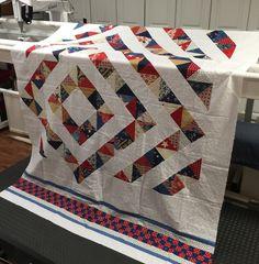 Katyquilts. Interesting twist to hst quilt design...