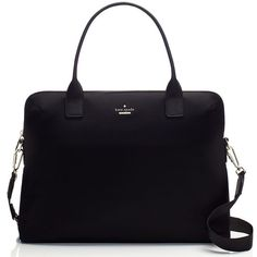 Kate Spade Classic Nylon Daveney Laptop Bag ($248) ❤ liked on Polyvore featuring bags, handbags, shoulder bags, cocktail purse, kate spade purses, blue handbags, laptop handbag and kate spade